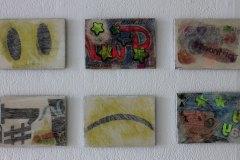 FOMO, drawings x 9 on gessoed boards  105 x 148 mm , 2018