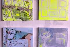Casser Maison studies, Acrylic on 4 x panels, 20cm x 30 cm, 2019