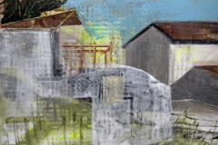 Casser Maison study - SS House, Acrylic on panel, 20cm x 30 cm, 2019
