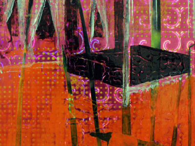 Eleanor's Room, (2020). Acrylic painting and collage on paper,33cm x 25cm. SOLD