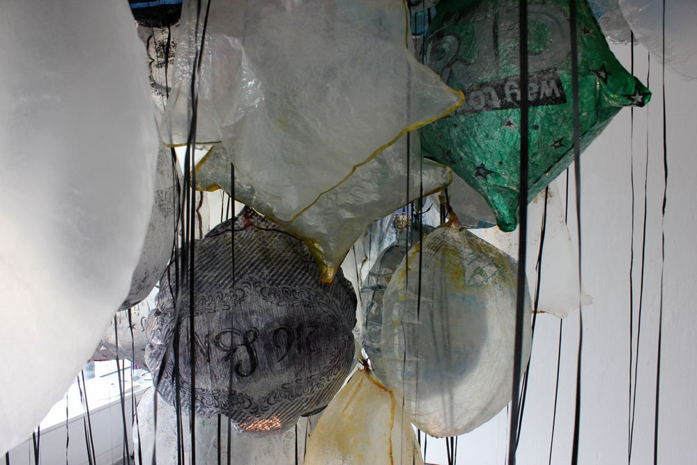 GYRE (detail),  Installation of found objects TENT Gallery, drawings and photos, 2018