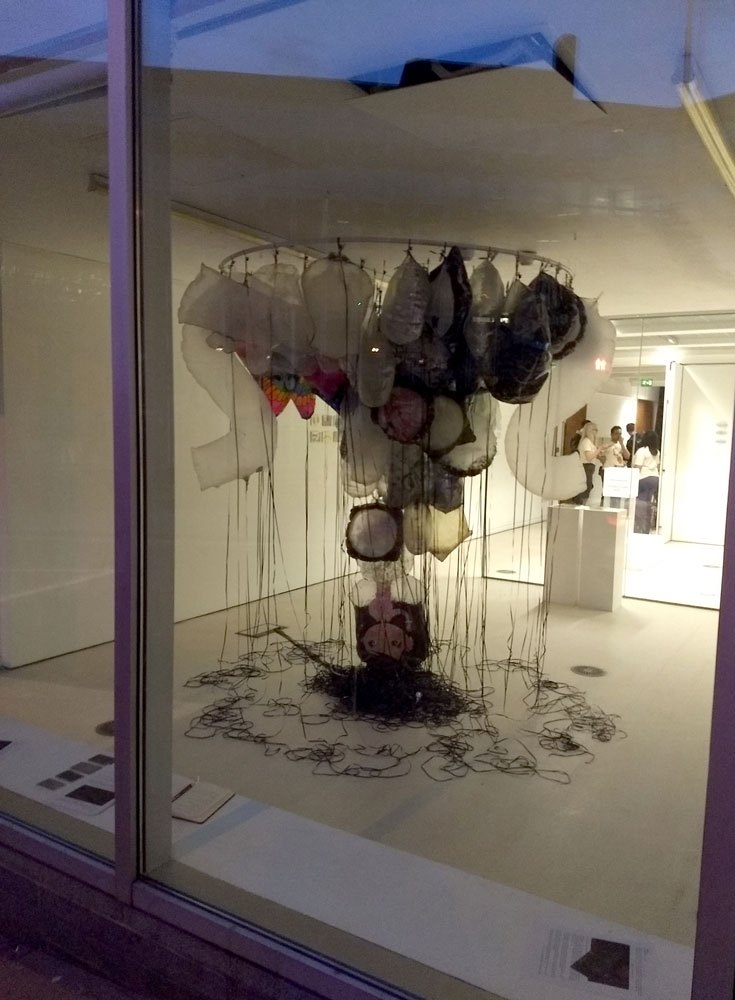 GYRE,  Installation of found objects TENT Gallery, drawings and photos, 2018