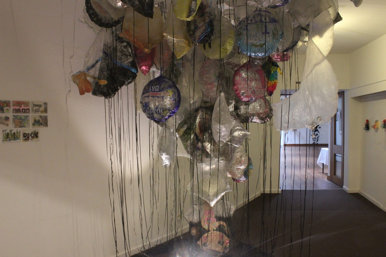 GYRE,  Installation of found objects Gallery 23, drawings and photos, 2018